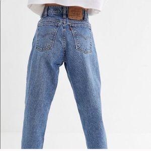 Levi's orange tab 505 high waisted mom jeans